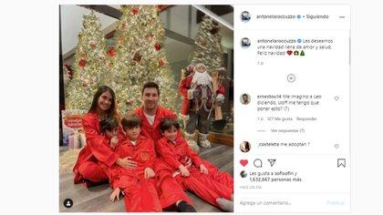 La publicación de Antonela Roccuzzo en su cuenta de Instagram