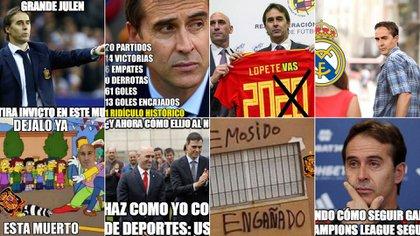 Las redes sociales se han ensañado con Julen Lopetegui tras su despido de la selección de España