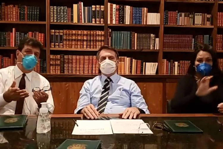 Jair Bolsonaro durante el anuncio de este jueves