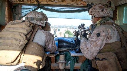 Marines estadounidenses en Baghdad, Irak, January 3, 2020. U.S. Marine Corps/Sgt. Kyle C. Talbot/Handout via REUTERS.