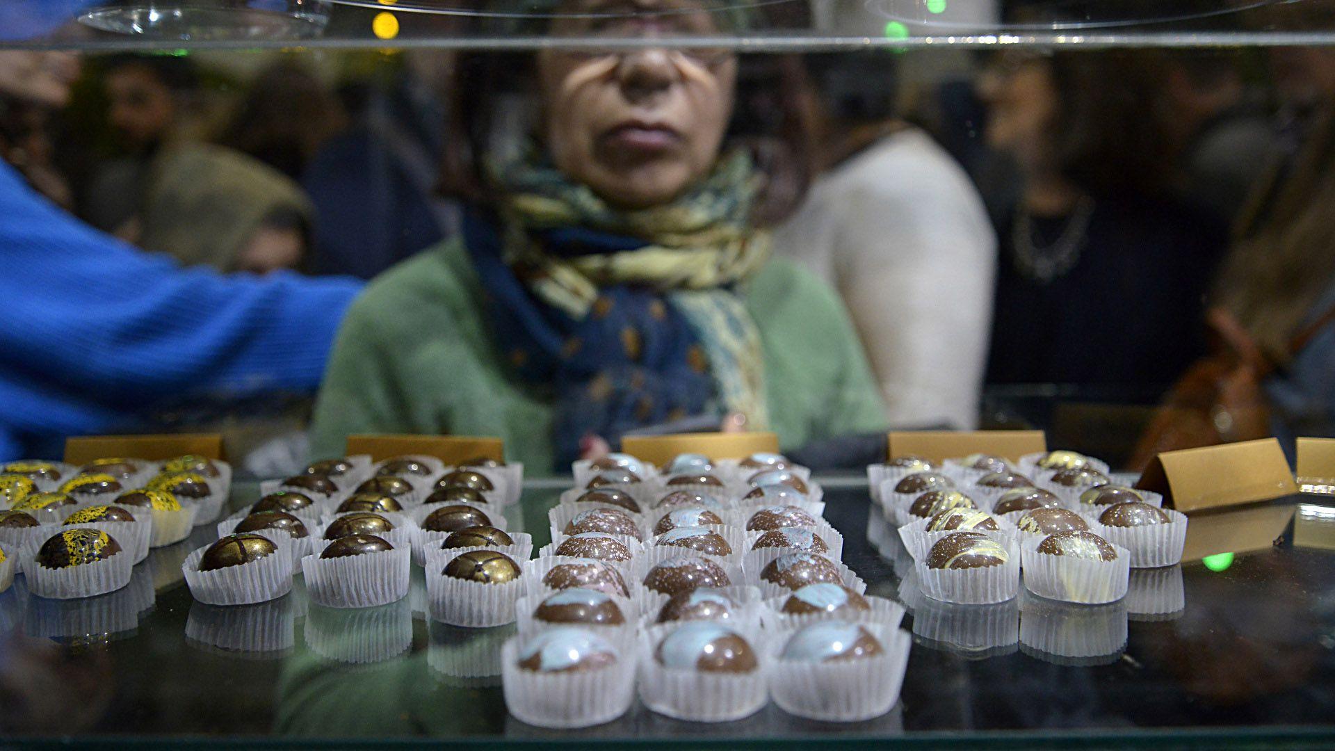 Los bombones rellenos son uno de los emblemas de la chocolatería El Viejo Oso