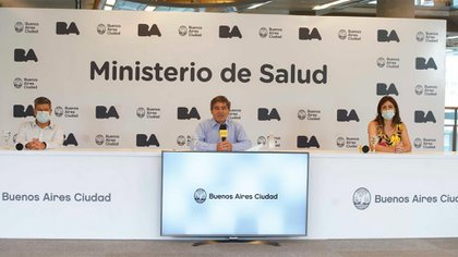 El ministro de Salud, Fernán Quirós, durante el reporte epidemiológico de la ciudad de Buenos Aires