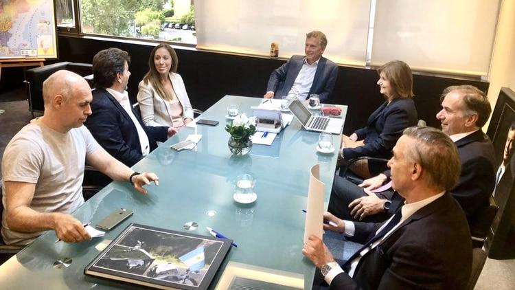 Antes de viajar, Mauricio Macri se había reunido con las principales figuras del PRO