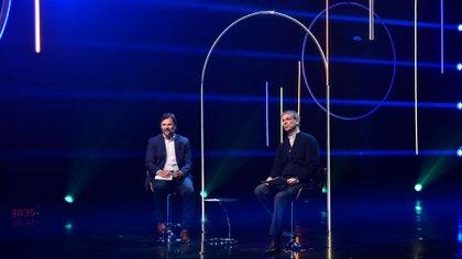 Gastón Remy y Rodrigo Zarazaga, en el panel en el cual explicaron los alcances del grupo SeamosUno