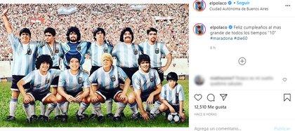 El Polaco saludó a Maradona (Foto: Instagram)