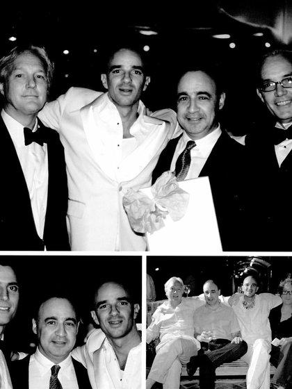 Alan Fena y Len Blavatnik junto a Austin Hearst y JP Bailey, su primer socio. Chris Burch fue la primera persona que realmente creyó en su visión y fue fundamental para acompañarlo en su camino de expansión en el Real Estate . Austin Hearst y Len Blavatnik son hasta hoy amigos y socios