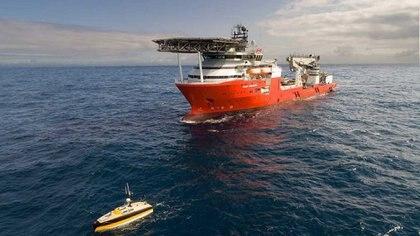 El Seabed Constructor, buque contratado por el Estado Nacional para localizar los restos del San Juan a un costo de U$S 7.000.000.-