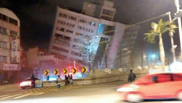 El temblor en Taiwan derrumbó edificios (AP)