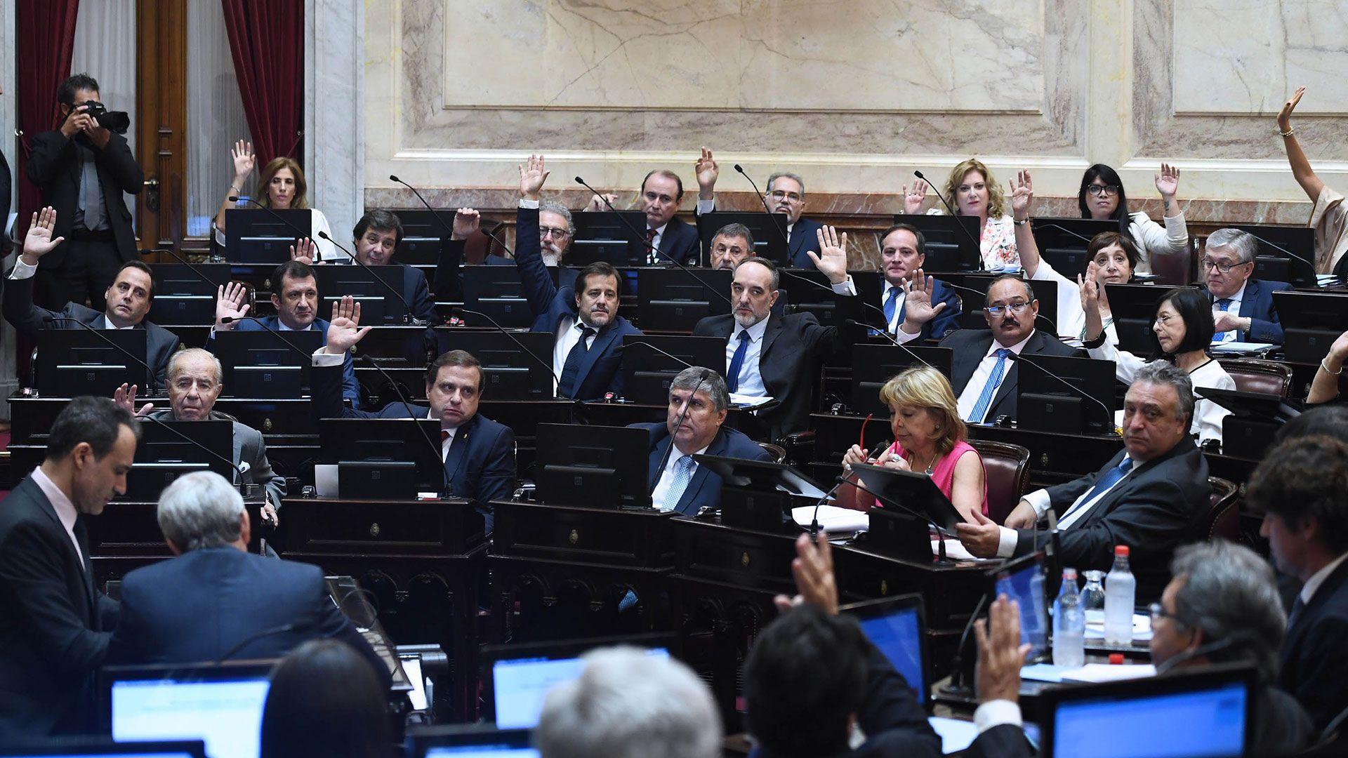 El Senado aprobó la ley la semana pasada (Télam)