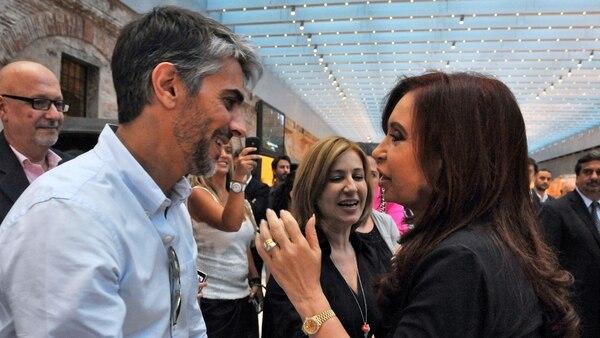 Pablo Echarri y Cristina Kirchner