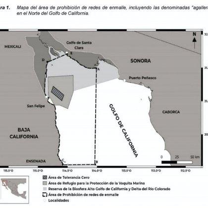 La zona de tolerancia cero delimita un espacio de 225 kilómetros cuadrados (Foto: Diario Oficial de la Federación)