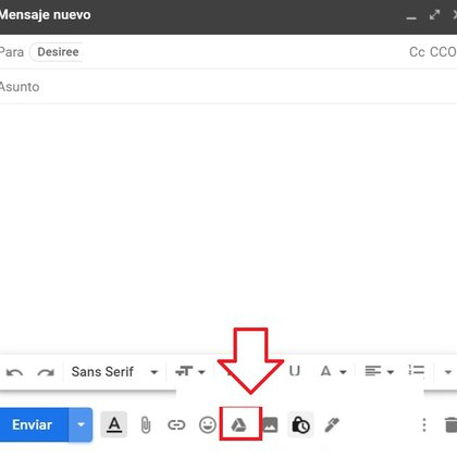 Así se pueden insertar archivos guardados en Drive o compartir un link