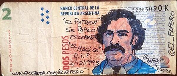 El infame narco colombiano Pablo Escobar Gaviria