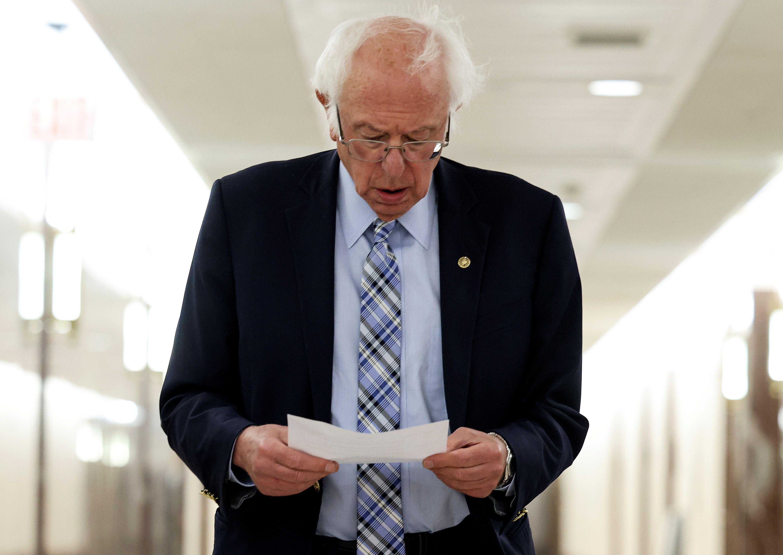 El senador demócrata Bernie Sanders, uno de los que presionó para que EE.UU. reduzca su ayuda a Israel (Reuters)