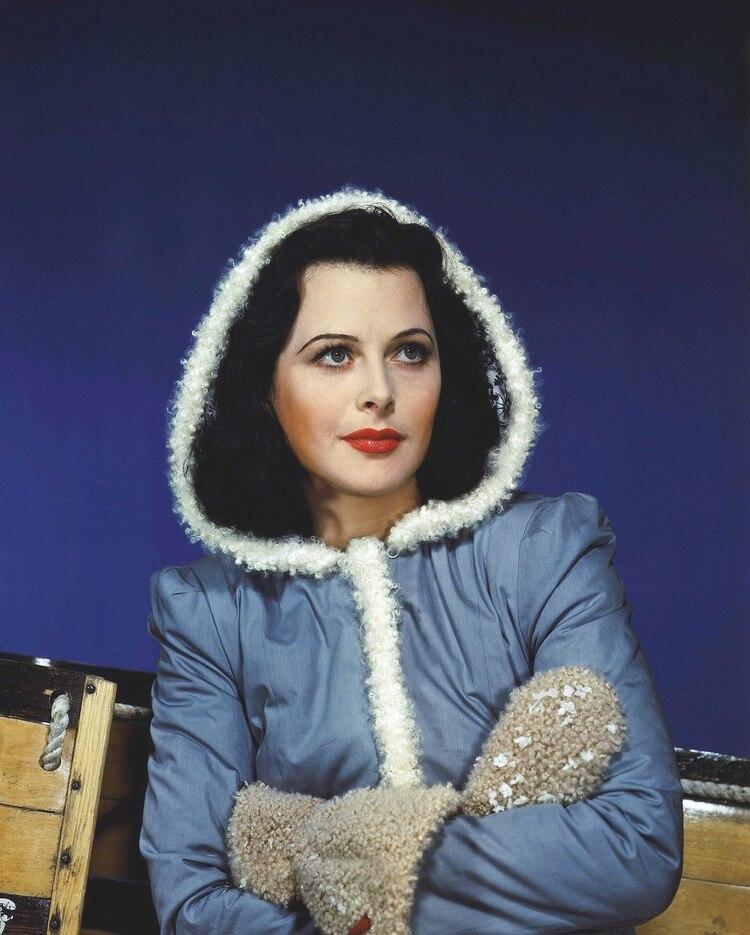 Hedy Lamarr en su época de oro en Hollywood.