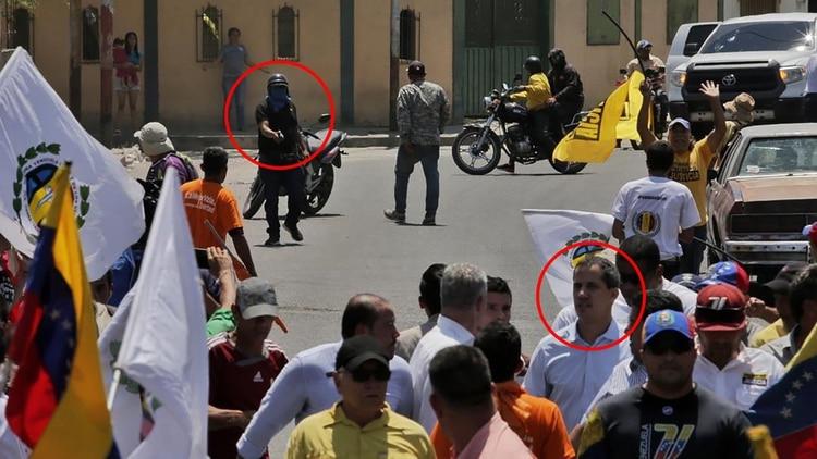 Guaidó se movilizaba en Lara cuando fue atacado por los colectivos (AP)