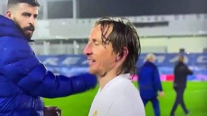 El enojo de Piqué con Modric