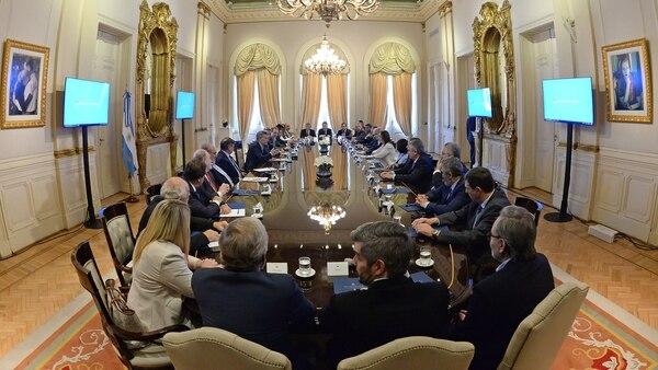 La reunión de Mauricio Macri junto a los gobernadores