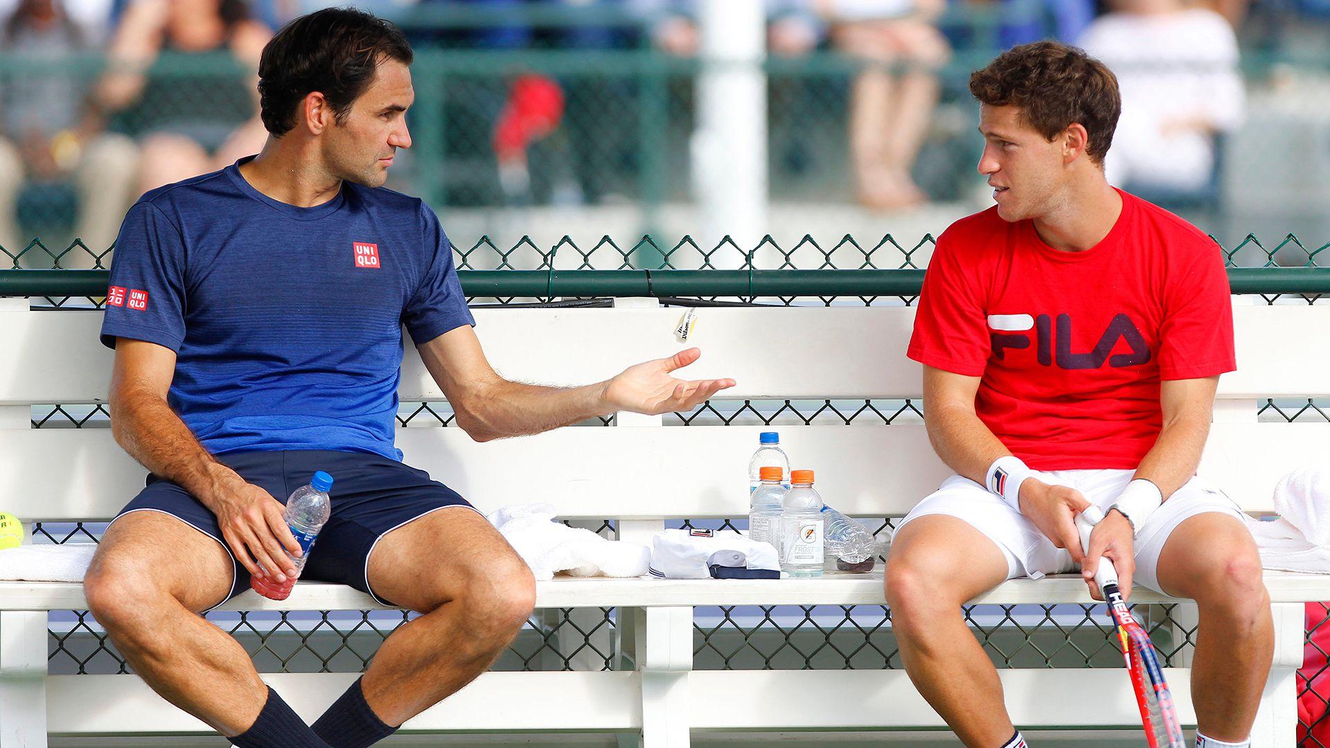 Federer y el Peque, juntos en Indian Wells 2019 (Ella Ling/BPI/Shutterstock)