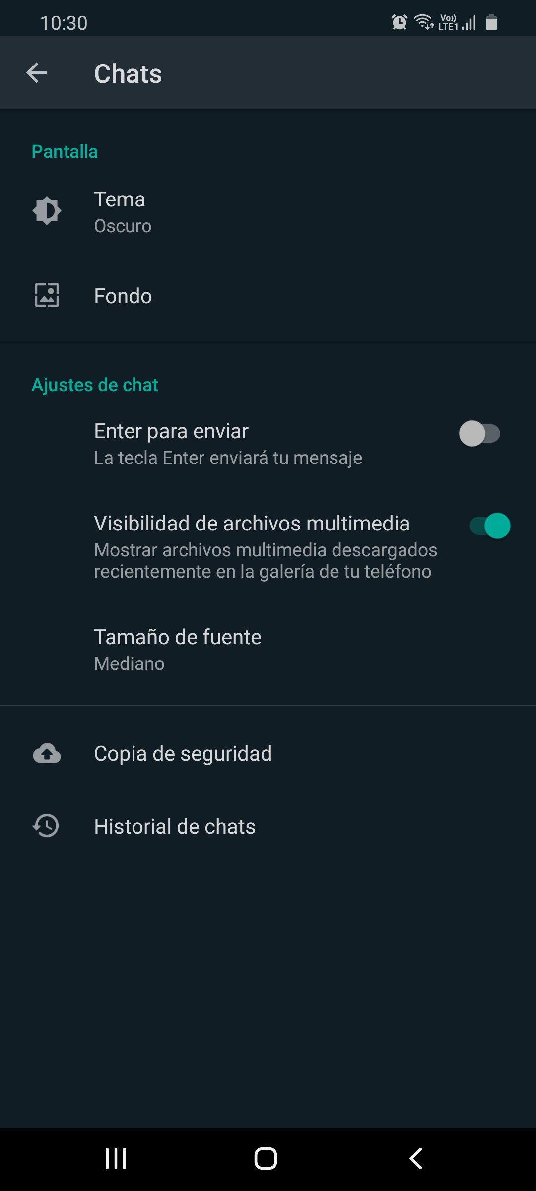 Cambiar fondo de pantalla en WhatsApp