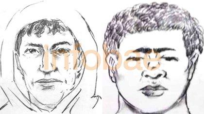 El identikit de los dos sospechosos