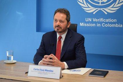 Imagen de archivo: Carlos Ruiz Massieu, Representante Especial del Secretario General y Jefe de la Misión de Verificación de las Naciones Unidas en Colombia, presenta al Consejo de Seguridad el Informe Trimestral del Secretario General de las Naciones Unidas sobre la Misión de Verificación de la ONU en Colombia, que cubre el período del 27 de marzo al 26 de junio de 2020.