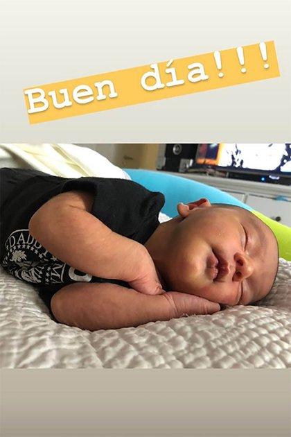 Francesco Benicio es hijo de Morena Rial y Facundo Ambrosioni (Instagram)