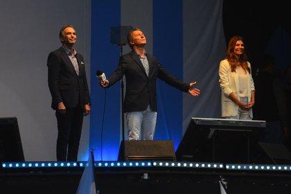 Macri en el acto en el Obelisco (Foto: Matías Arbotto)