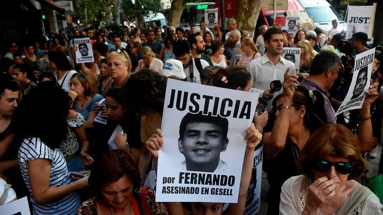 Ayer hubo una importante convocatoria para reclamar justicia (Nicolás Stulberg)