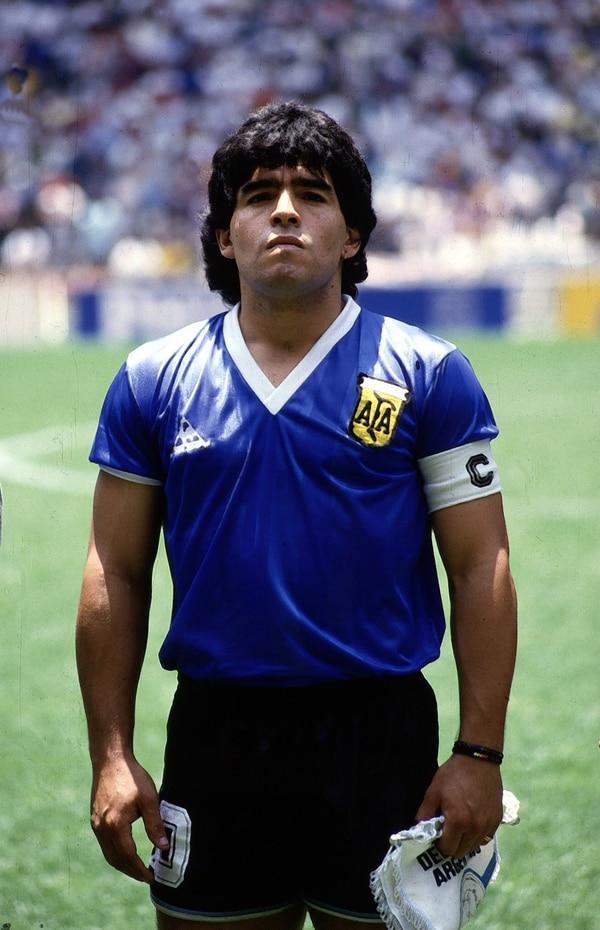 Diego Armando Maradona, durante el Mundial de México 1986 (Getty Images)