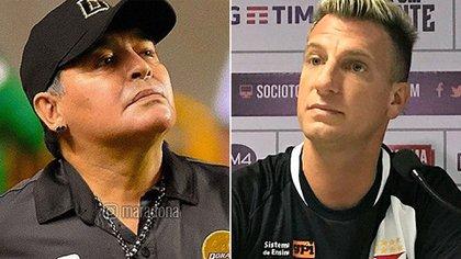 Cercanos: Diego Maradona y Maxi López