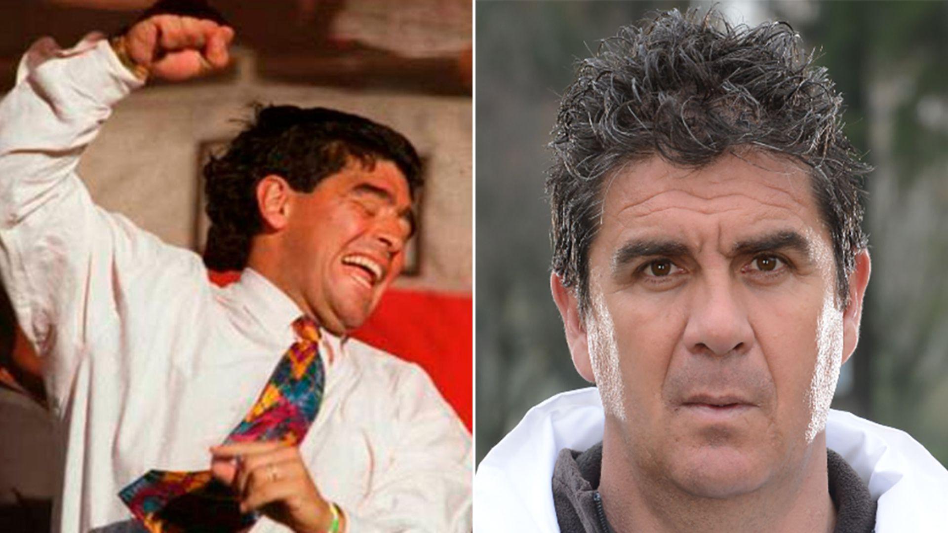 Maradona en modo Mandiyú y Ángel Bernuncio