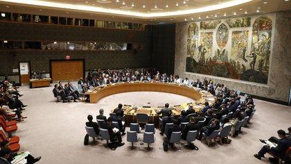 Vista general de una reunión del Consejo de Seguridad de la ONU celebrada durante el 73 periodo de sesiones de la Asamblea General de Naciones Unidas (ONU), en la sede de la ONU en Nueva York, Estados Unidos, el 27 de septiembre del 2018. EFE/Jason Szenes