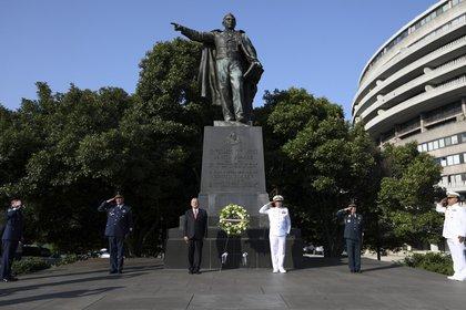 """El monumento de Benito Juárez es parte de la colección """"Estatuas de los libertadores"""" (Foto: Presidencia)"""