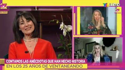 Atala Sarmiento, desde Barcelona, felicita a Ventaneando por sus 25 años (Captura: Tv Azteca)