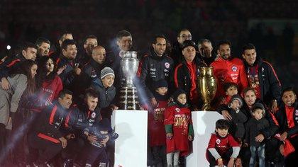 Chile, actual bicampeón de América (AFP)