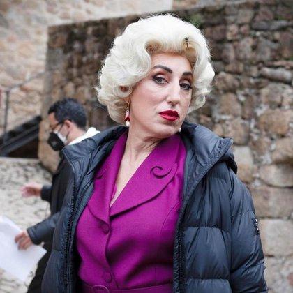 Actriz española Rossy de Palma en rodaje de la serie musical 'Érase una vez... pero ya no'  Foto: Instagram @manolocaro