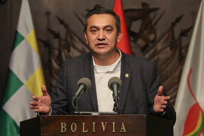 En la imagen, el ministro transitorio de la Presidencia de Bolivia, Yerko Núñez. EFE/Martín Alipaz/Archivo
