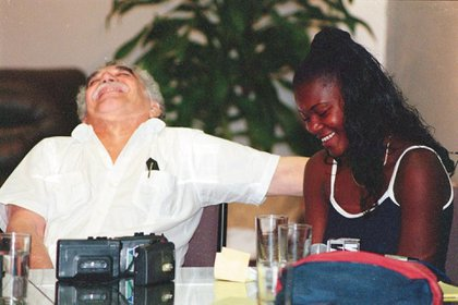 Gabo invited the rag belly to a workshop and chronicles in Barranquilla to tell his story.  Photo: courtesy El Heraldo.