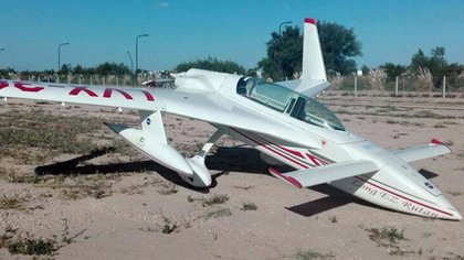 El avión experimental Rutan Long-EZ matrícula LV-X383 (foto: @GuilleLobo)