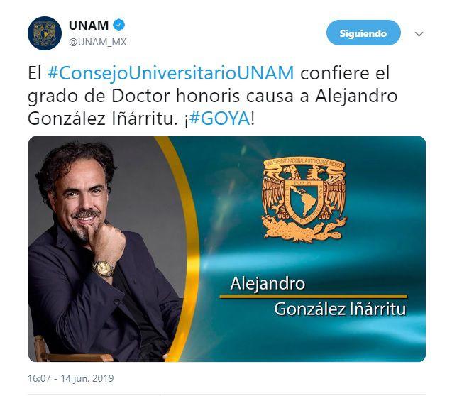 González Iñárritu se ha desempeñado como locutor, guionista, director y productor de cine (Foto: Captura de pantalla)