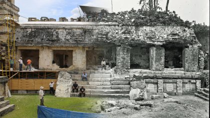 """Aunque el Museo de Sitio """"Alberto Ruz L'huiller"""", está cerrado al público por la contingencia sanitaria, los restauradores han aprovechado en mejorar su infraestructura  (Foto: Google Arts & Culture)"""