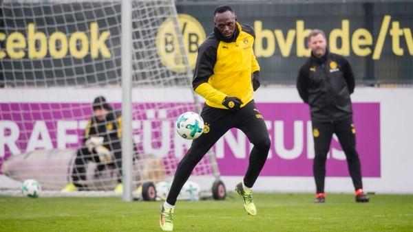 Bolt se entrenó en el Borussia Dortmund durante la última pausa invernal de la Bundesliga