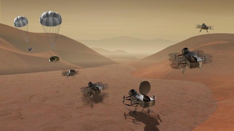 Libélula (Dragonfly), será el primer robot volador que se envíe a una luna de otro planeta