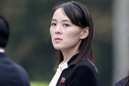 Kim Yo-jong, hermana del líder de Corea del Norte, Kim Jong-un, asiste a la ceremonia de colocación de coronas en el Mausoleo de Ho Chi Minh en Hanoi, Vietnam, en una foto de archivo del 2 de marzo de 2019 (Reuters)
