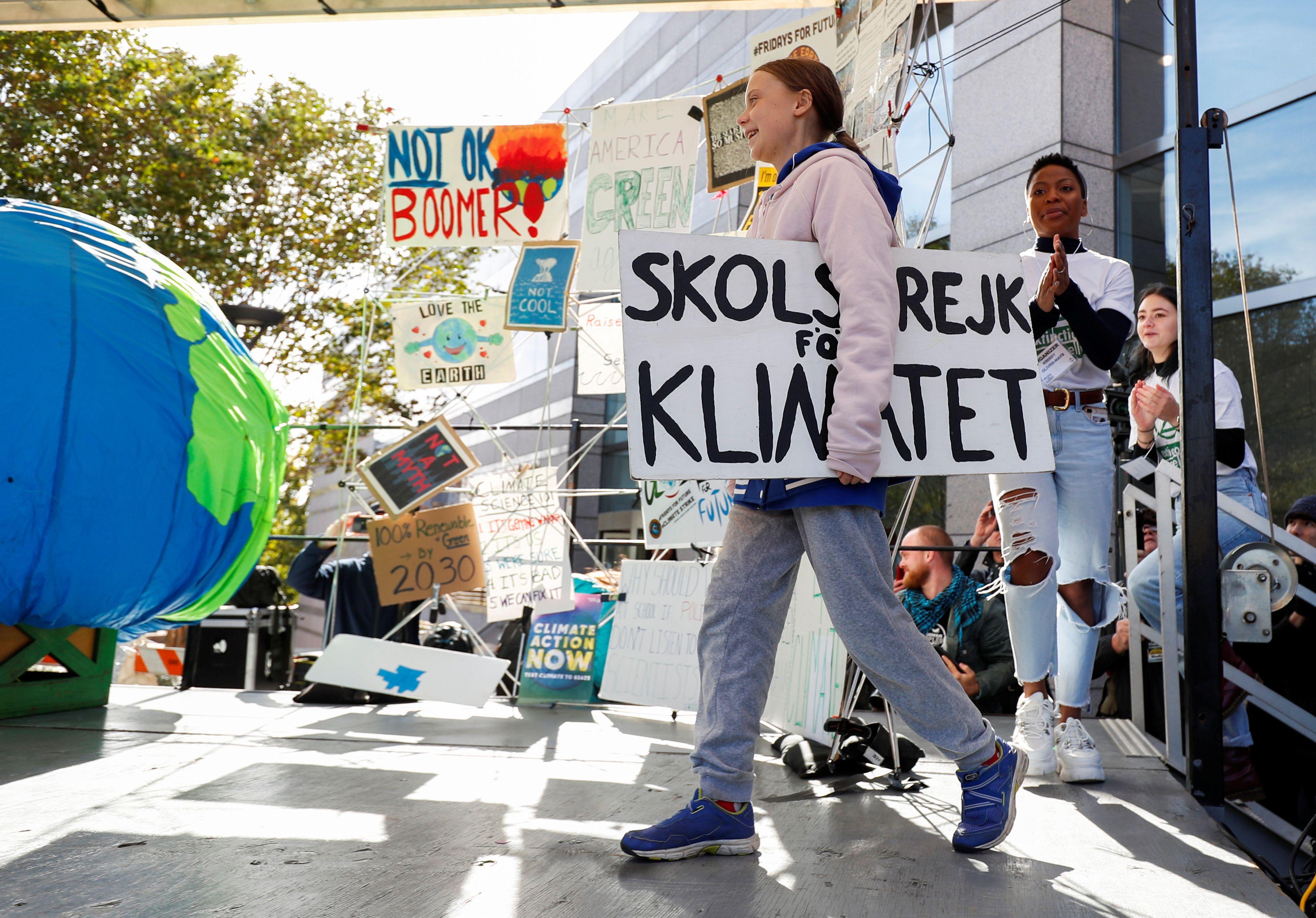 La activista Greta Thunberg inspiró a millones de jóvenes a movilizarse por el cambio climático