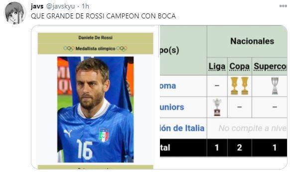 Memes/Mensajes De Rossi campeón Boca