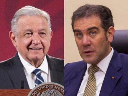 Andrés Manuel López Obrador y Lorenzo Córdova Vianello, consejero presidente del INE (Foto: Cuartoscuro/Especial)