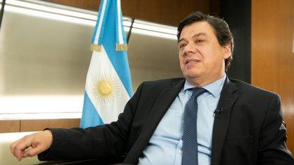 El ministro de Trabajo Claudio Moroni