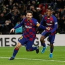 Soccer Football - La Liga Santander - FC Barcelona v Granada - Camp Nou, Barcelona, Spain - January 19, 2020 Barcelona's Lionel Messi celebrates scoring their first goal REUTERS/Albert Gea